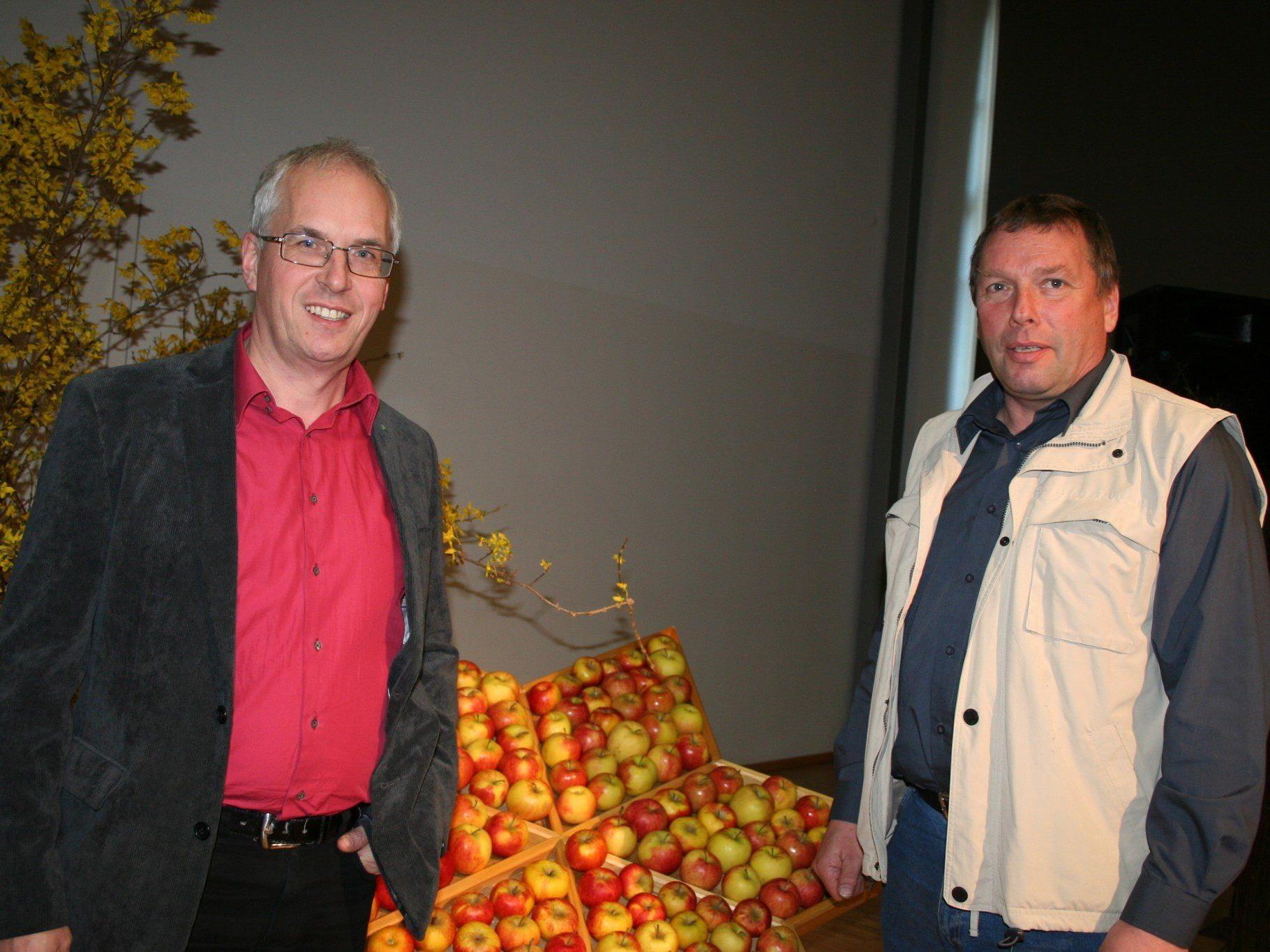 Ulrich Höfert (Referent) und Kurt Salzmann (Obmann Fachverband Vbg. Baumwärter)