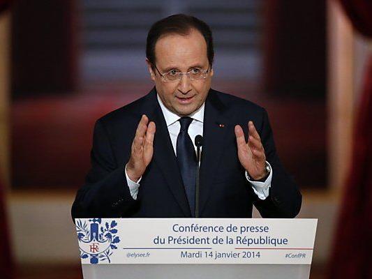 Hollande zeigte sich teilweise gesprächsfreudig