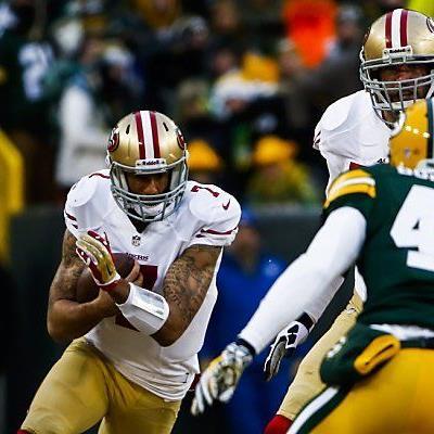 Colin Kaepernick lief erneut den Packers davon