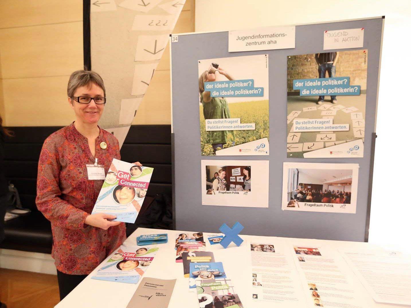 Das aha war mit einem Infostand bei der Auftaktveranstaltung von Erasmus+ dabei.