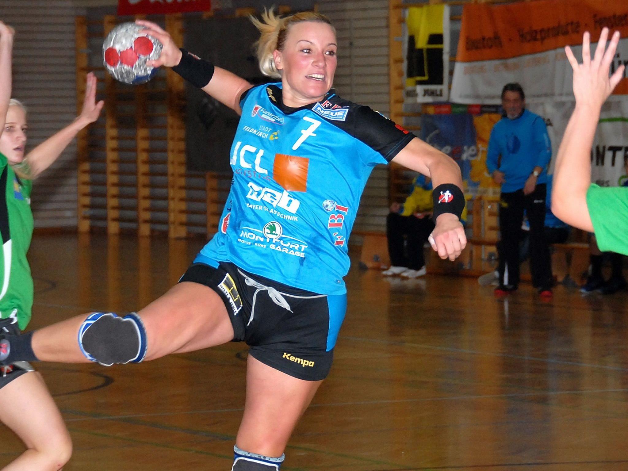 Martina Strmsek warf acht Tore, aber Feldkirch verlor in Niederösterreich.