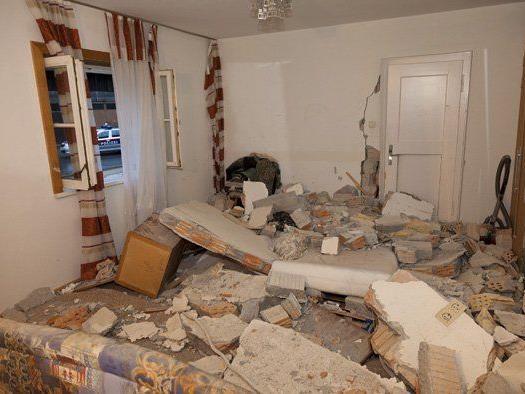Die völlig zerstörte Wohnung des Bludenzers.