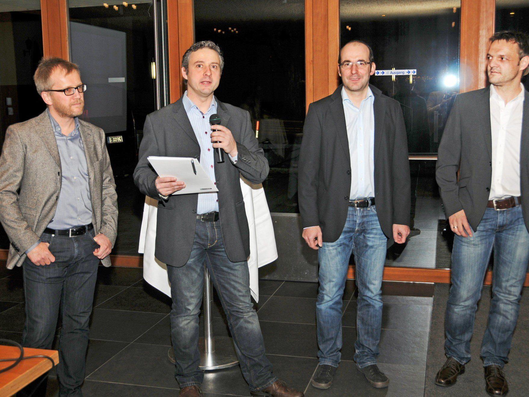 Markus Bacher, Christian Fröwis, Markus Schwärzler und Martin Übelhör vom Wirtschaftsbund Höchst.