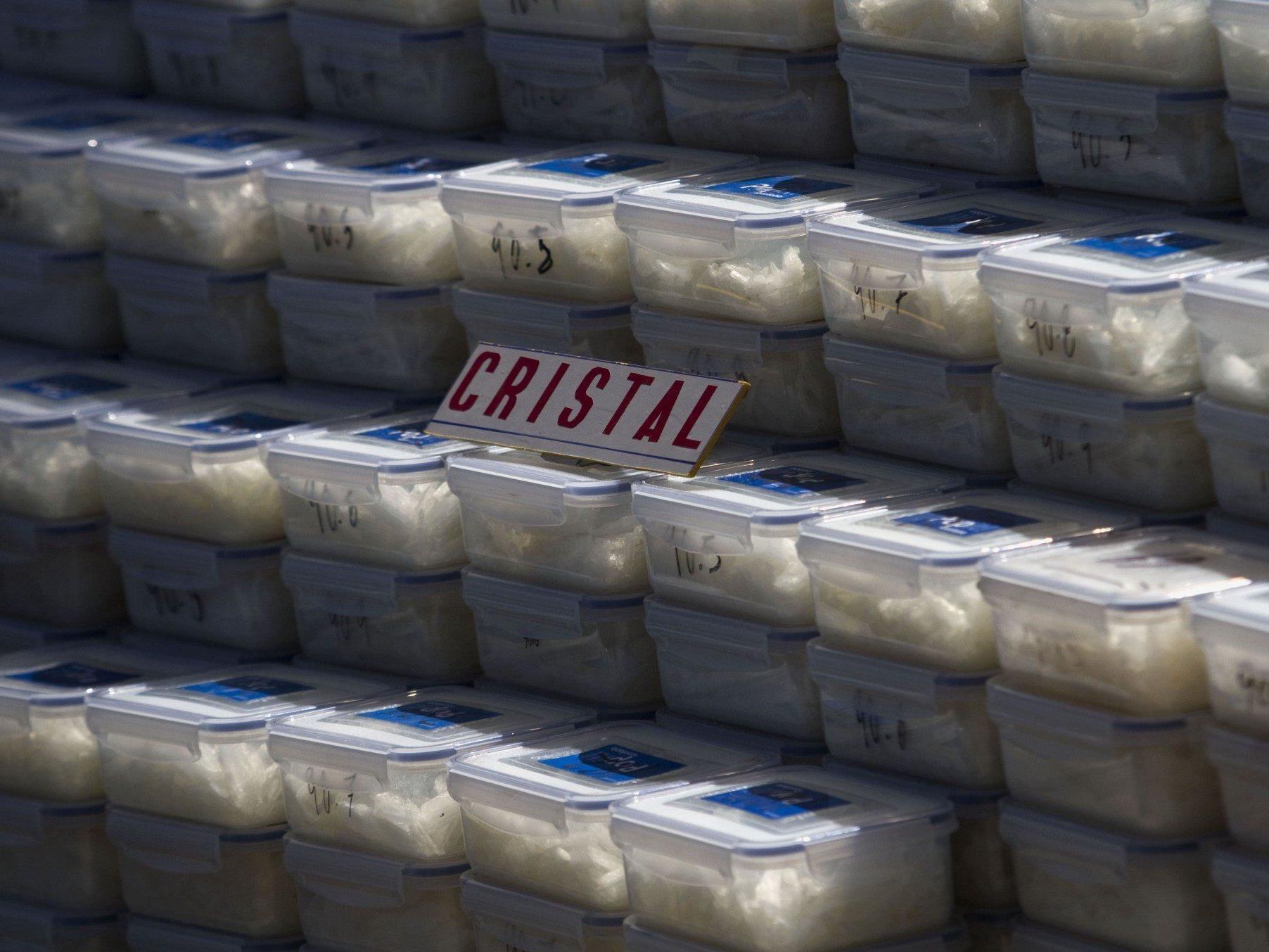 In Oberösterreich stellte die Polizei ein größere Menge von Crystal Meth sicher.