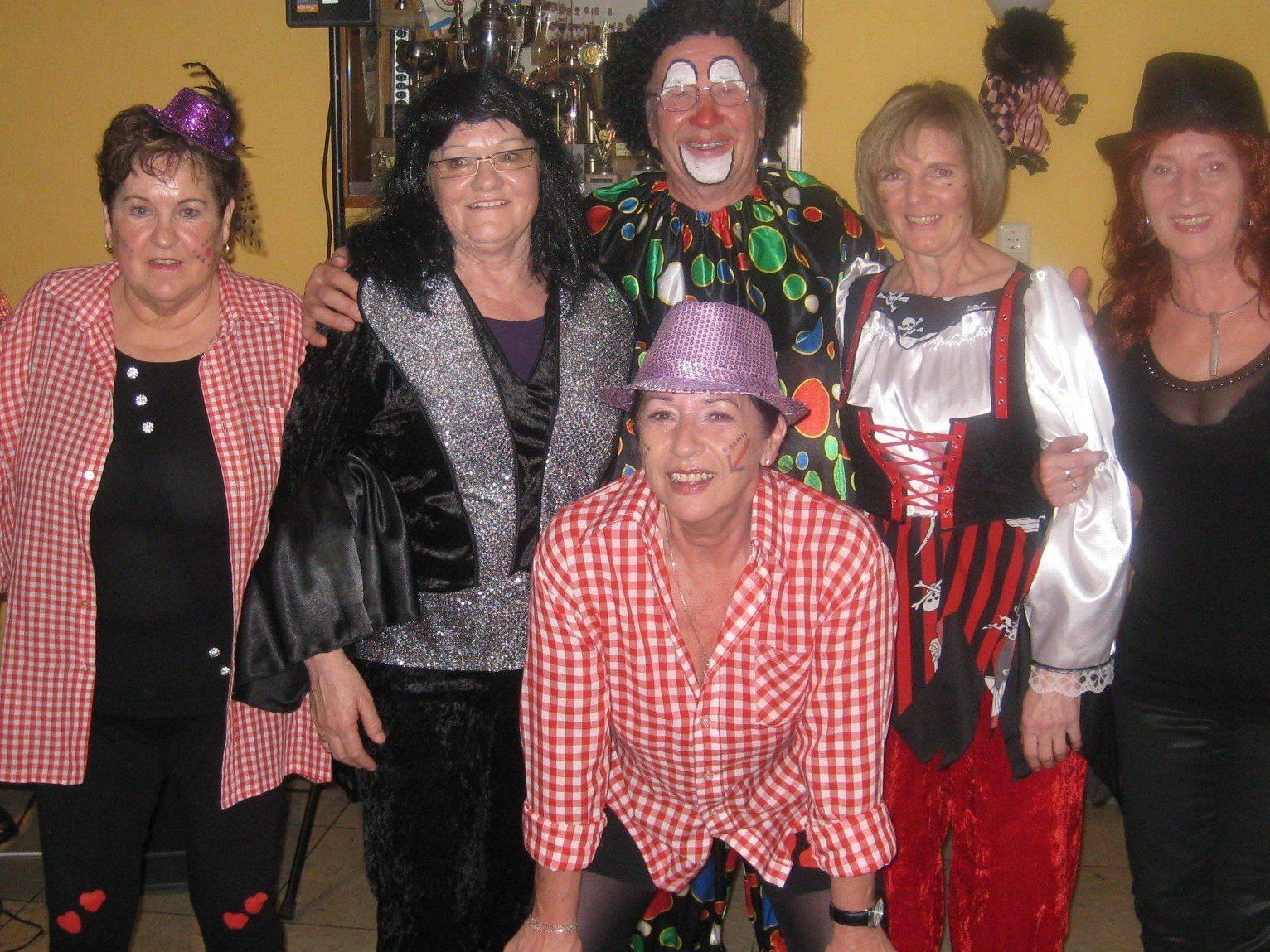Eine tolle Faschingsfeier hatten die Mitgliedes des PVÖ-Rheindelta