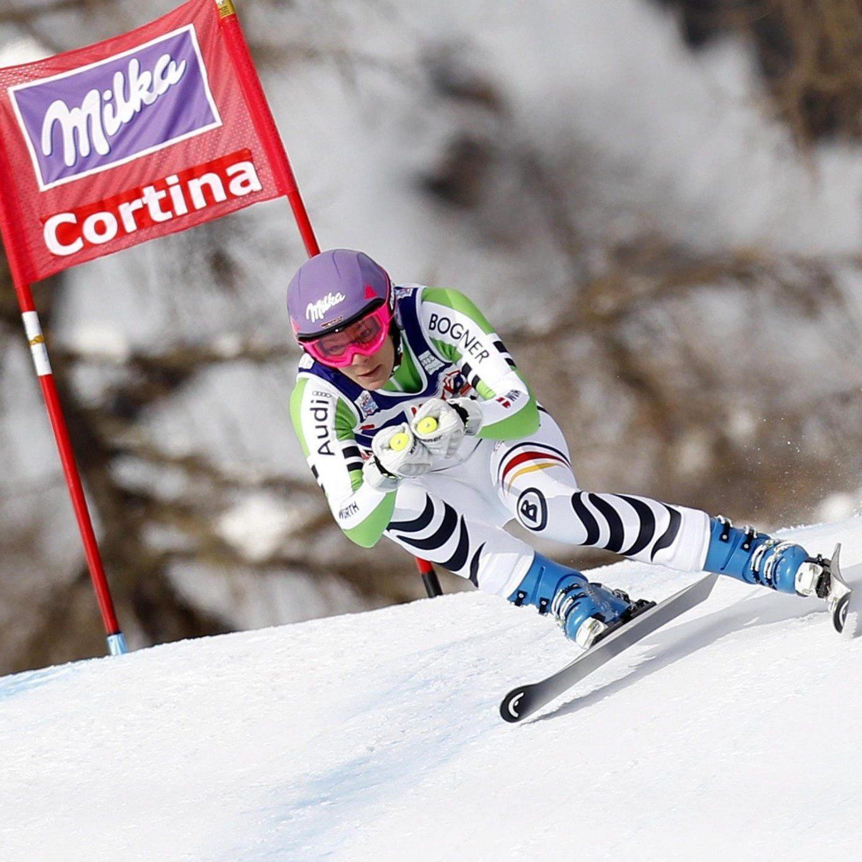Maria Höfl-Riesch gewann die erste von zwei Abfahrten an diesem Wochenende.