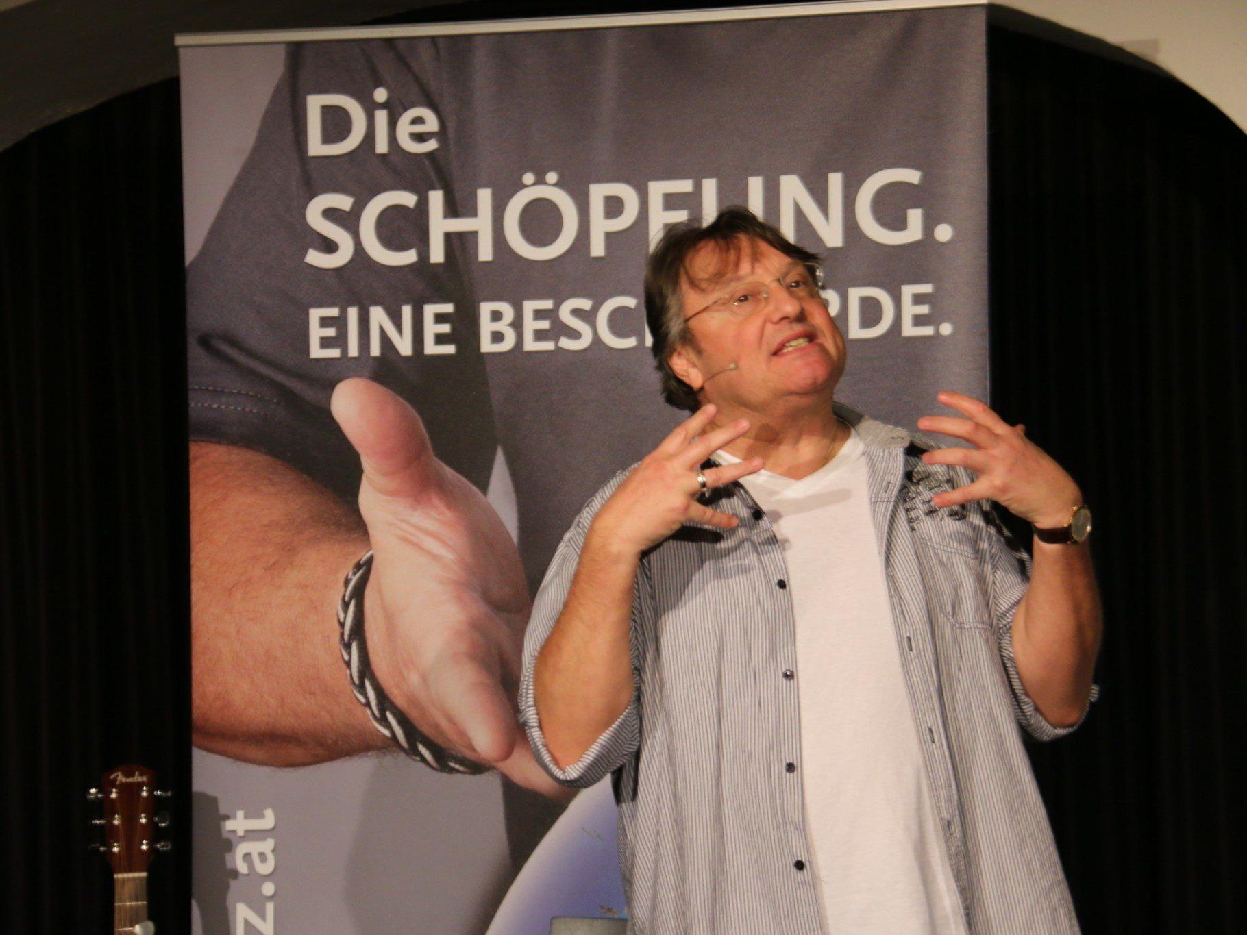 Kabarettlegende Joesi Prokopetz haderte lustvoll mit Schöpfer und Schöpfung.
