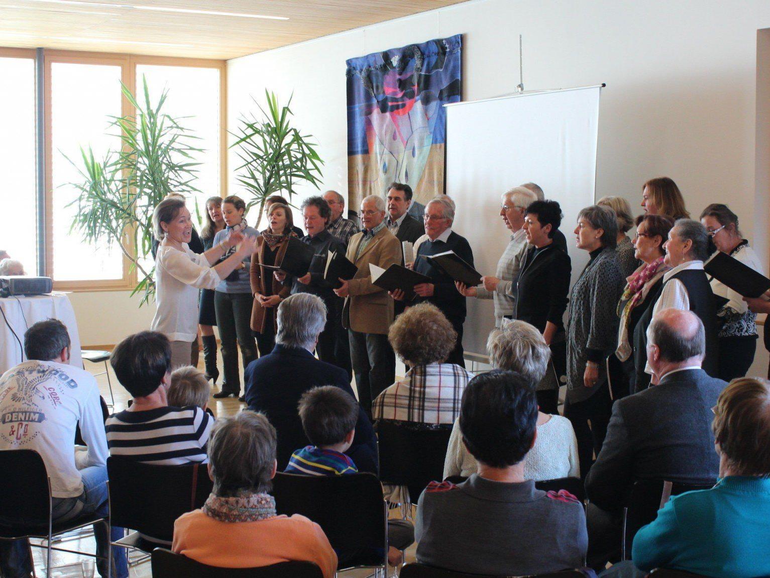 Musikalische Umrahmung durch eine Abordnung des Bildsteiner Chors.