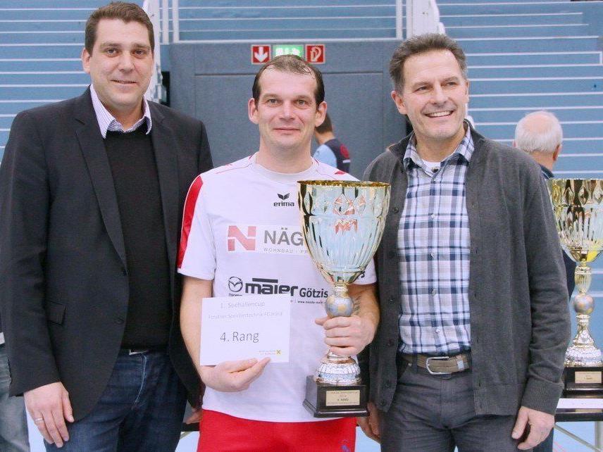 RW Rankweil-Kicker Markus Fritsche holt Platz vier im Seehallencup in Hard.