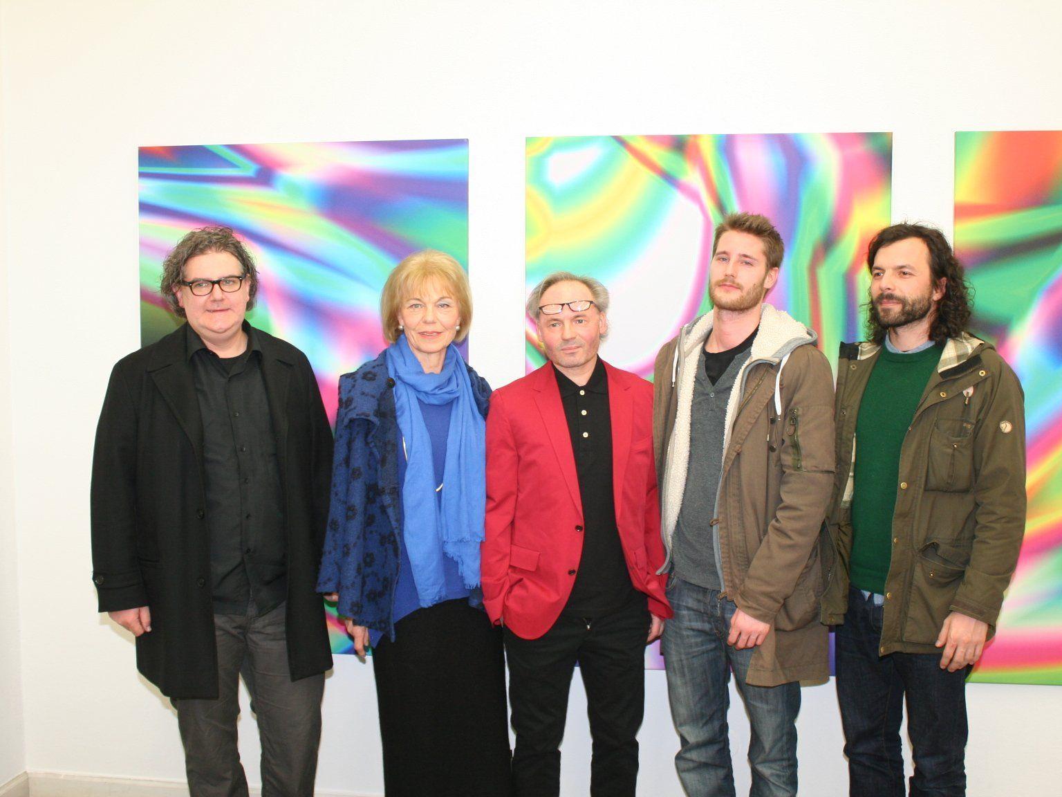 Rainer Schneider, Maria Ralser, Werner MARXX Bosch, Felix Groefler und Reinold Amann