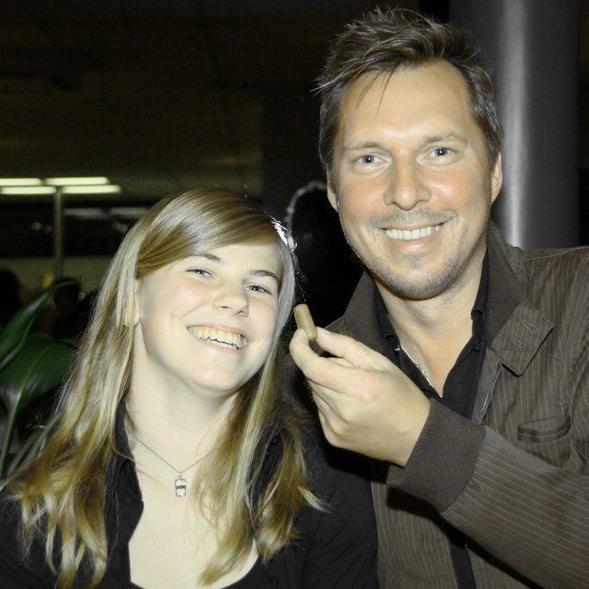 Die Rankweilerin Veronika Vonbrül hier im Bild mit Obmann Ulli Bischoff wurde 2012 zur Fußballerin des Jahres gewählt.