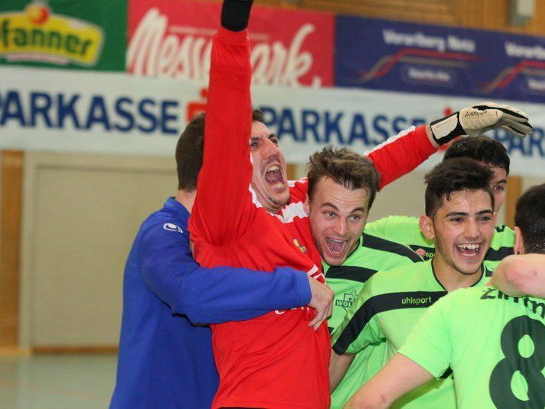 Unbeschreiblicher Jubel beim Zimm FC Wolfurt, aber es reichte nur zu Platz drei.