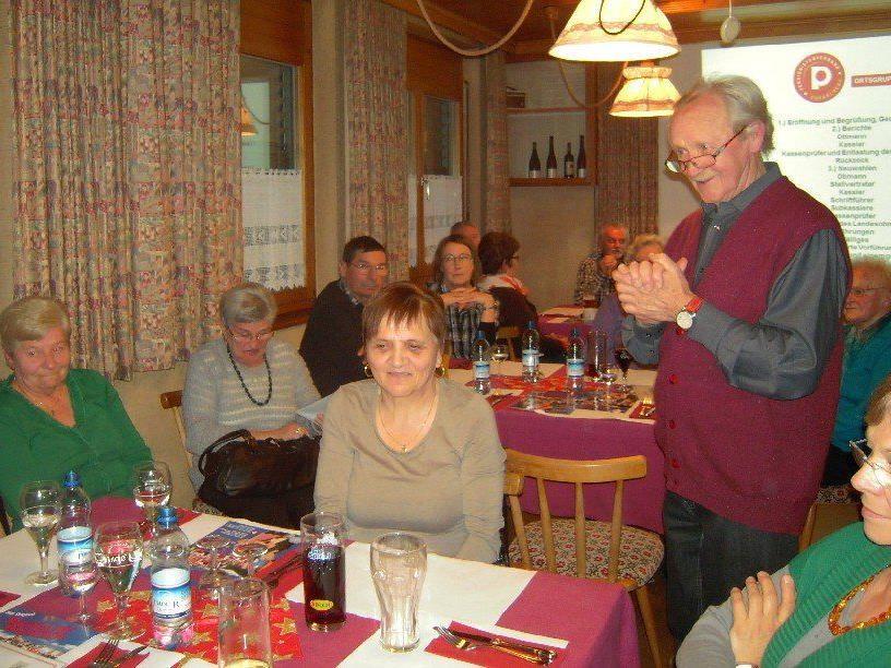 Jahreshauptversammlung des Pensionistenverbandes der Ortsgruppe Thüringen.