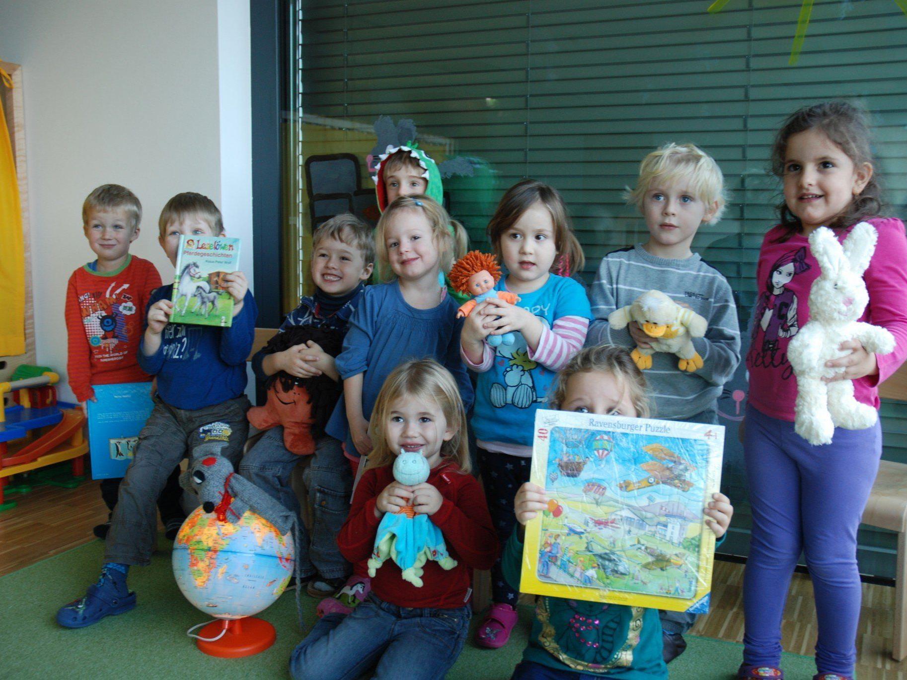 Mäusegruppen-Kinder im Kindergarten des LKH Feldkirch mit Herz für die Mitmenschen.