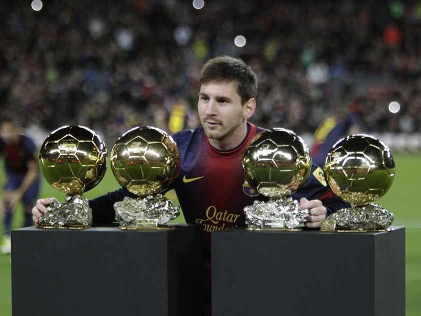 Viermal in Folge Weltfußballer des Jahres - Rekord für Lionel Messi.
