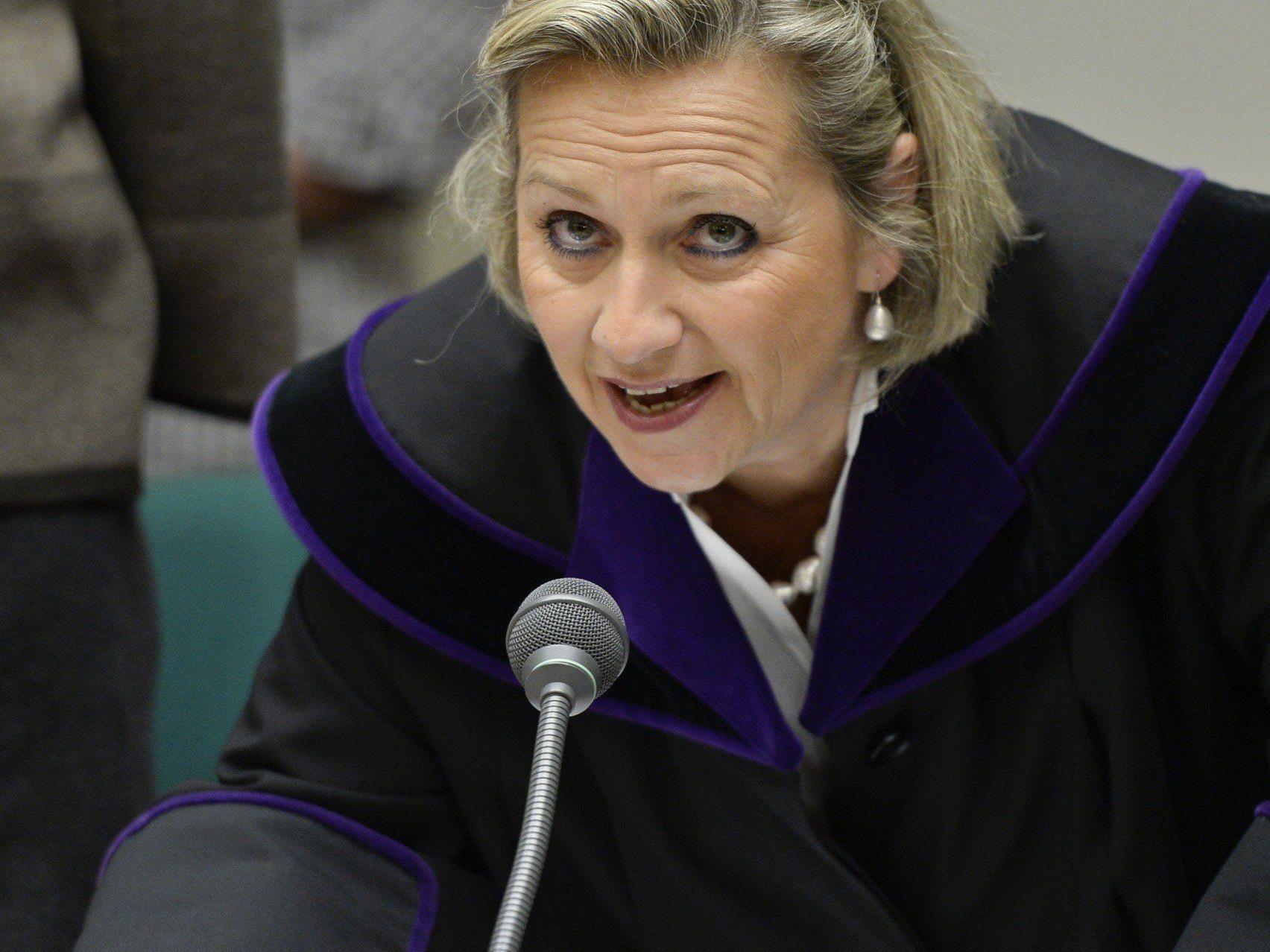 Richterin Moravec-Loidolt beendete den Telekom V-Prozess, nachdem der Staatsanwalt die Anklage zurück zog.