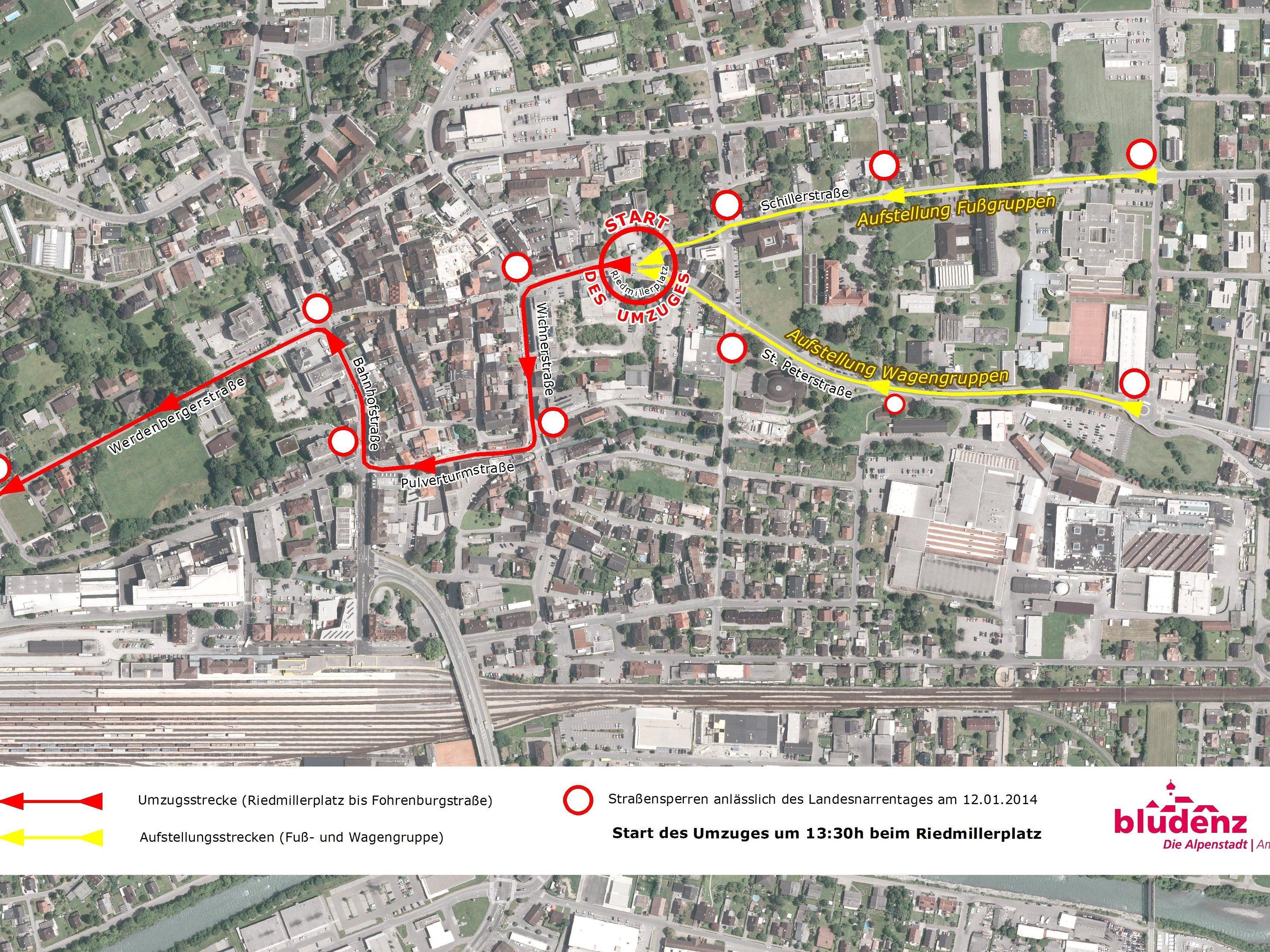 Narrentag 2014: Umfangreiche Straßensperren – Lokale Umleitungen sind beschildert.