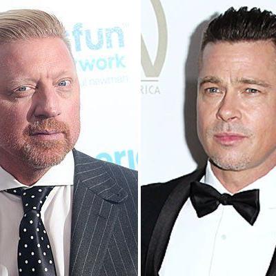 Der neue Look von Brad Pitt erinnert an Boris Becker.