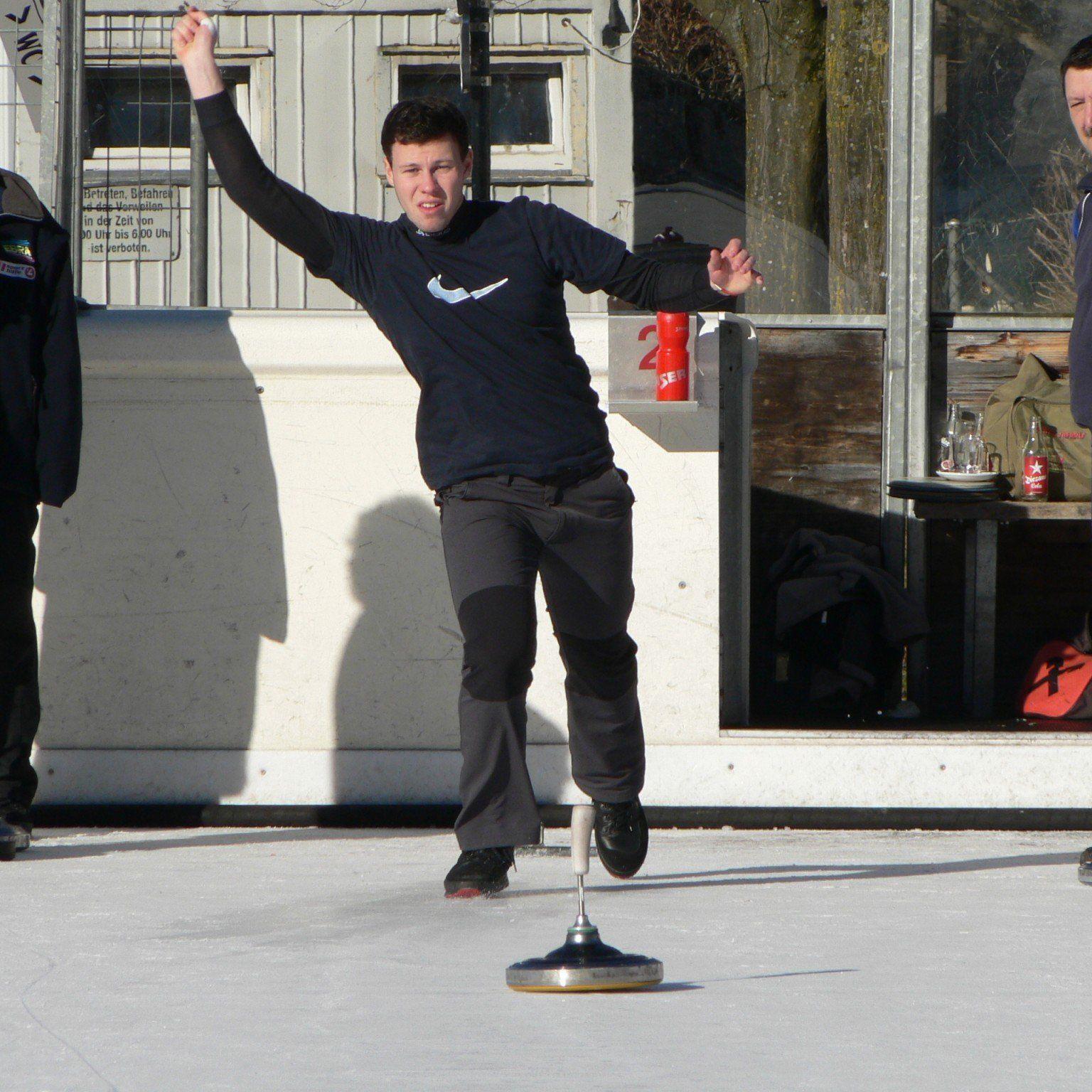 Der Bregenzer Abraham Sohm zählt zu den größten Hoffnungen im heimischen Eisstocksport.