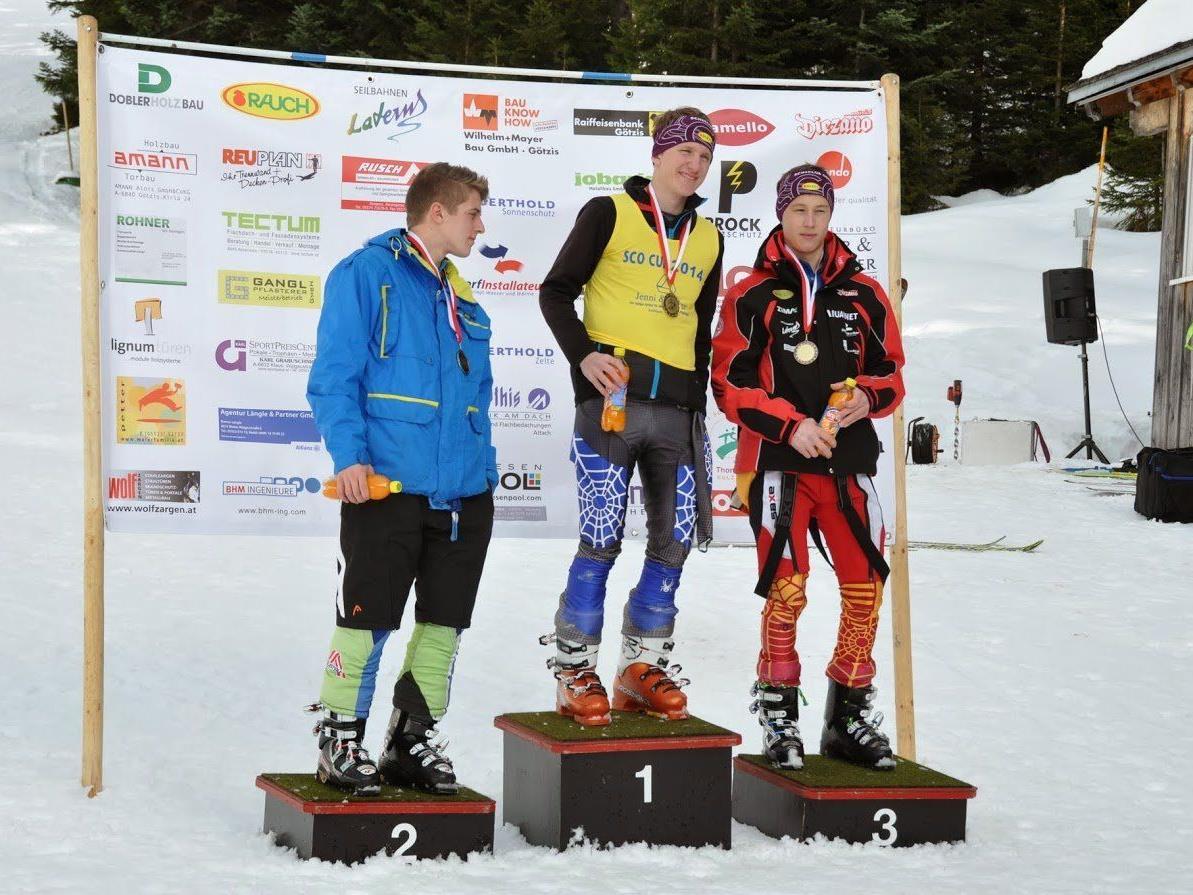 Siegerfoto U-18: v.li. Philipp Kopf, Fabio Jenni und Lucas Oberhauser