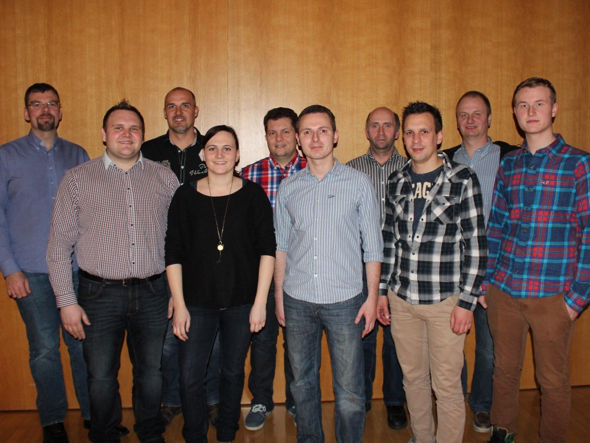 Die Vorstandsmitglieder des Musikvereins Bildstein.