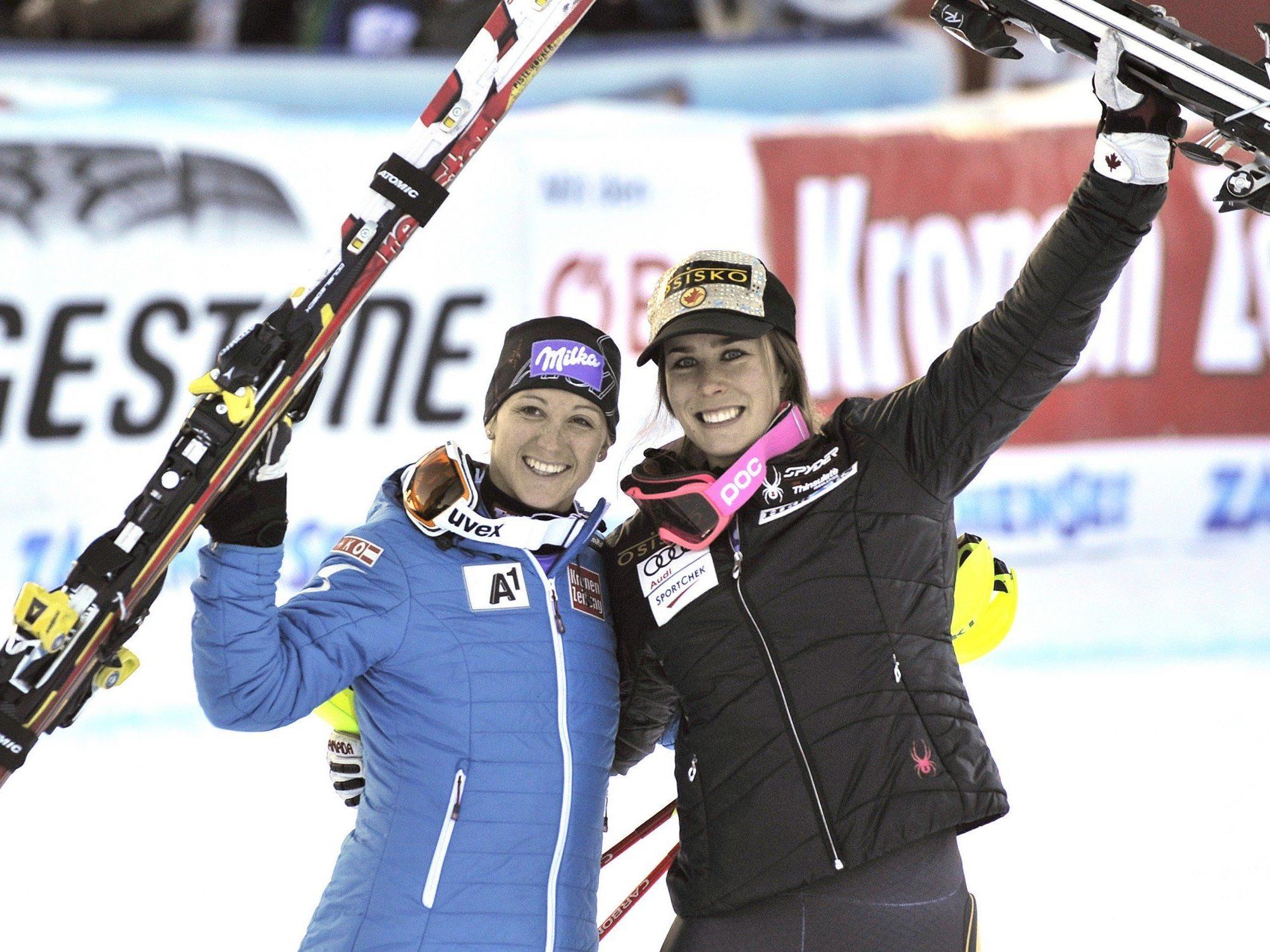 Michaela Kirchgasser und Marie Michelle-Gagnon.