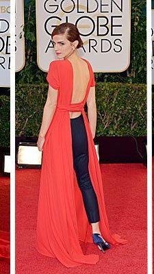 Julie Delpy, Emma Watson und Amy Adams setzten auf knallige Farben bei den 71. Golden Globes.