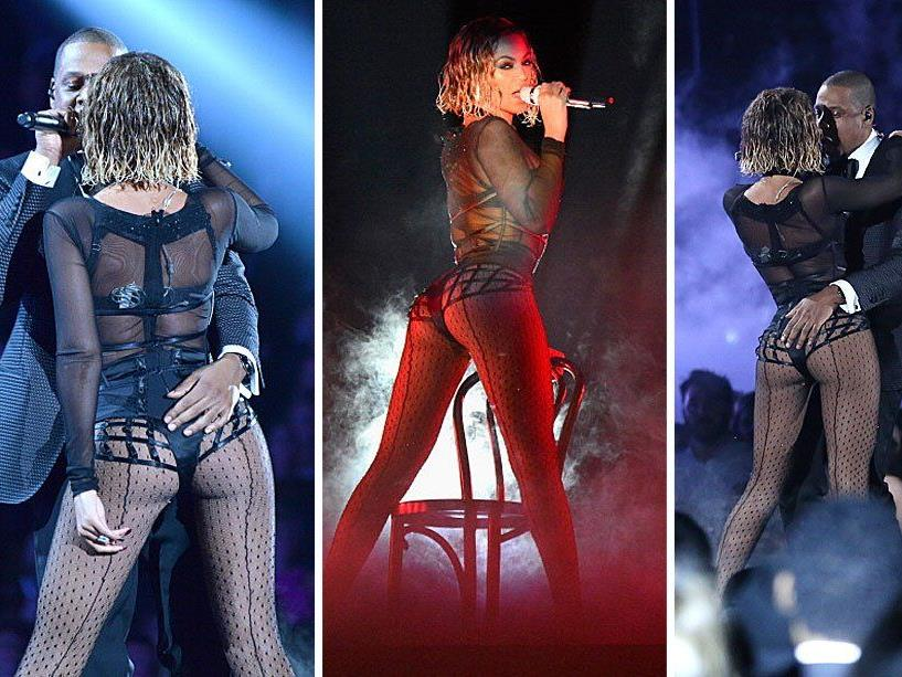 "Beyoncè und Jay Z performten ""Drunk in Love"" bei den 56. Grammy Awards."