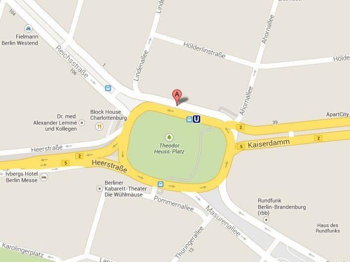 Adolf-Hitler-Platz statt Theodor-Heuss-Platz: Google entfernte falschen Namen noch am Donnerstagabend.