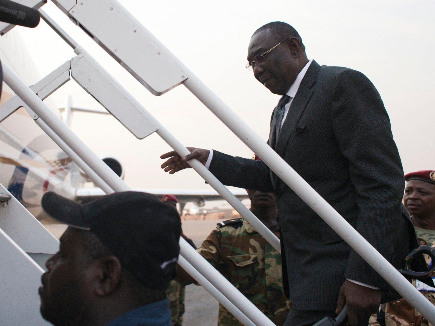 Michel Djotodia auf dem Weg zum Gipfel, auf dem er zur Abdankung gezwungen wurde.