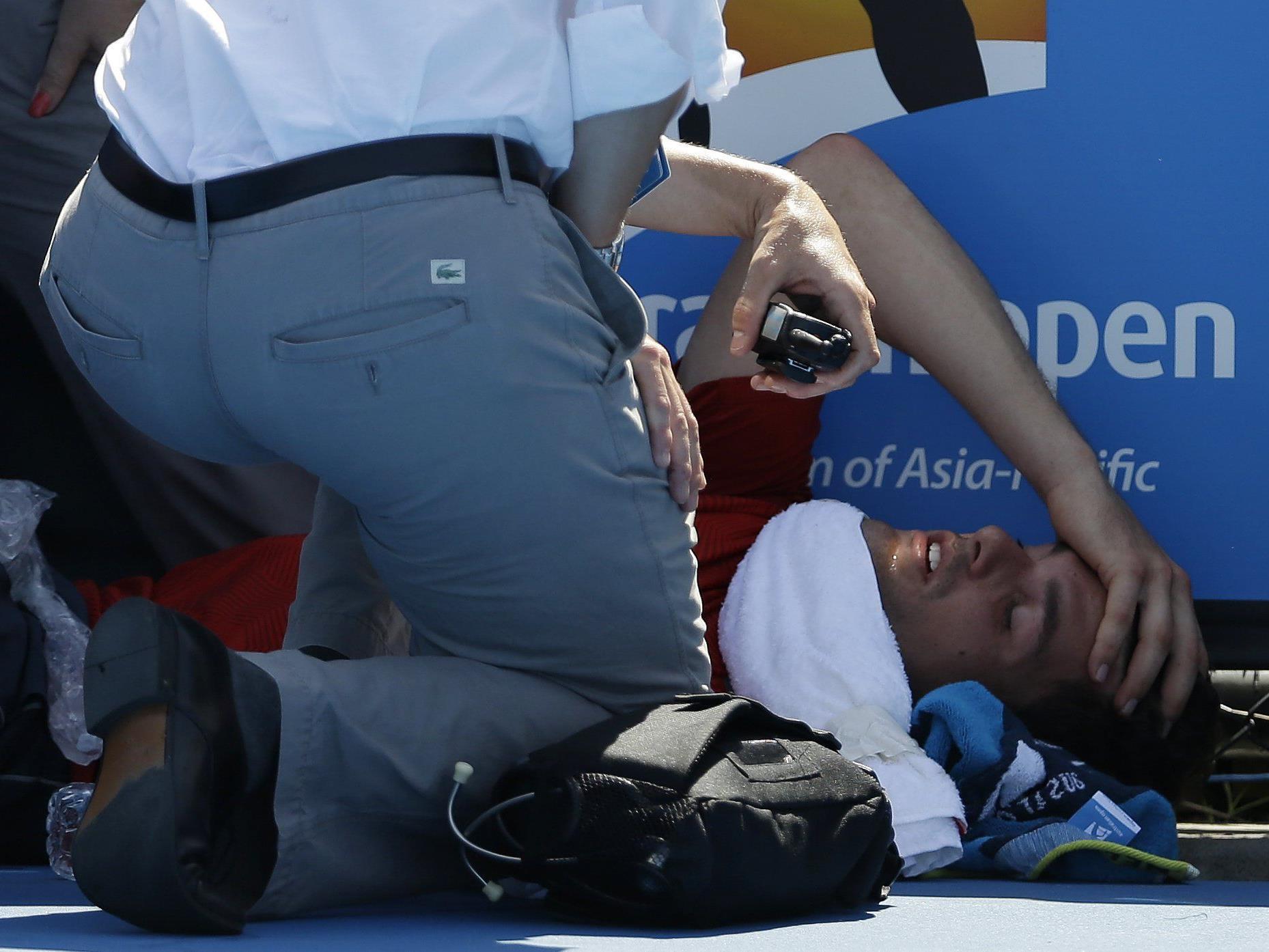 Murray hatte die Veranstalter bereits kritisiert, nachdem Frank Dancevic auf dem Platz kollabiert war