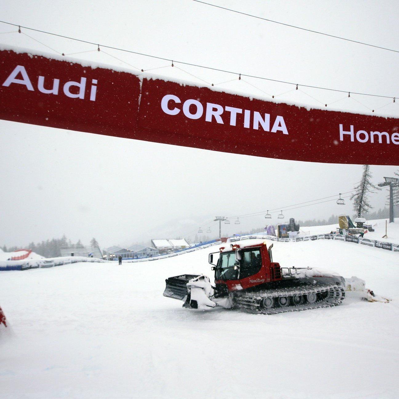 Schlechte Wetteraussichten und weicher Neuschnee - an eine Abfahrt in Cortina d'Ampezzo war nicht zu denken.