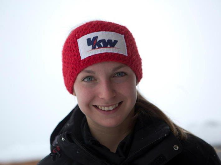 Die Schwarzenbergerin Johanna Greber gewinnt den Riesentorlauf am Hochkar.