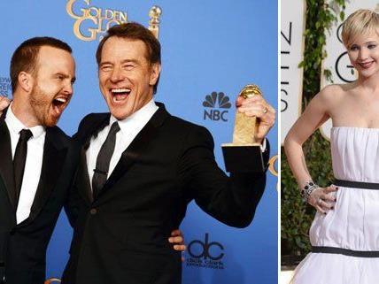 """Die """"Breaking Bad""""-Darsteller Aaron Paul und Bryan Cranston und Schauspielerin Jennifer Lawrence gehörten zu den großen Gewinnern."""