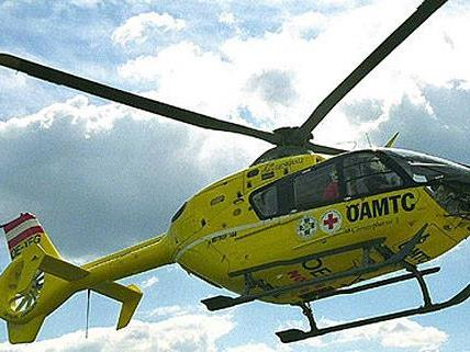 Mit dem Rettungshubschrauber wurde der Verletzte nach Wien gebracht.