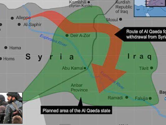 Al-Kaidas Terror-Kalifat (grün) vor Ausrufung?