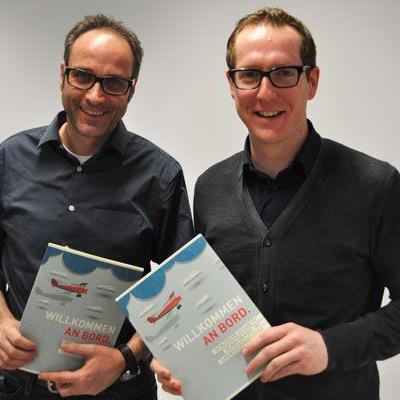 Präsentieren am 27.1. gemeinsam mit Vertretern aus Unternehmen wie man am besten eine Werbeagentur aussucht: Vize-Obmann Jörg Ströhle und Obmann Martin Dechant.