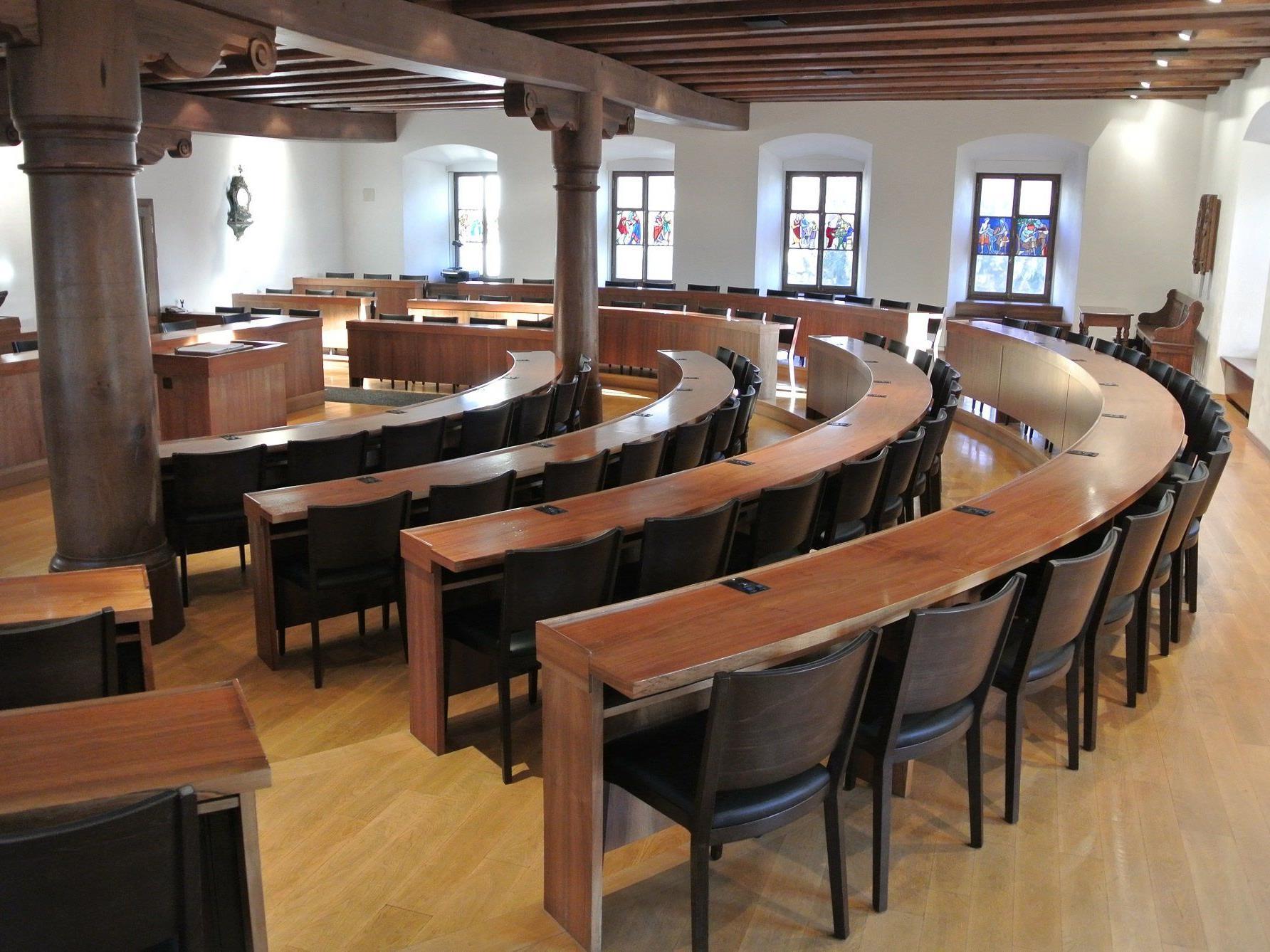 Stuhlhersteller Längle Hagspiel Stattet Regierungssaal Des Kantons