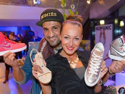 Die Wiener Society warf einen Blick auf die neuen Schuhe.