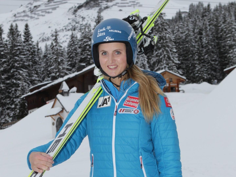 Nina Ortlieb zeigt sich in dieser Saison im Europacup von der allerbesten Seite.