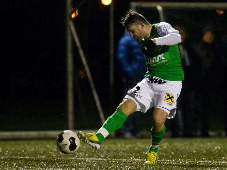 Dario Tadic schoss im ersten Test für die Lustenauer Austria einen Treffer.