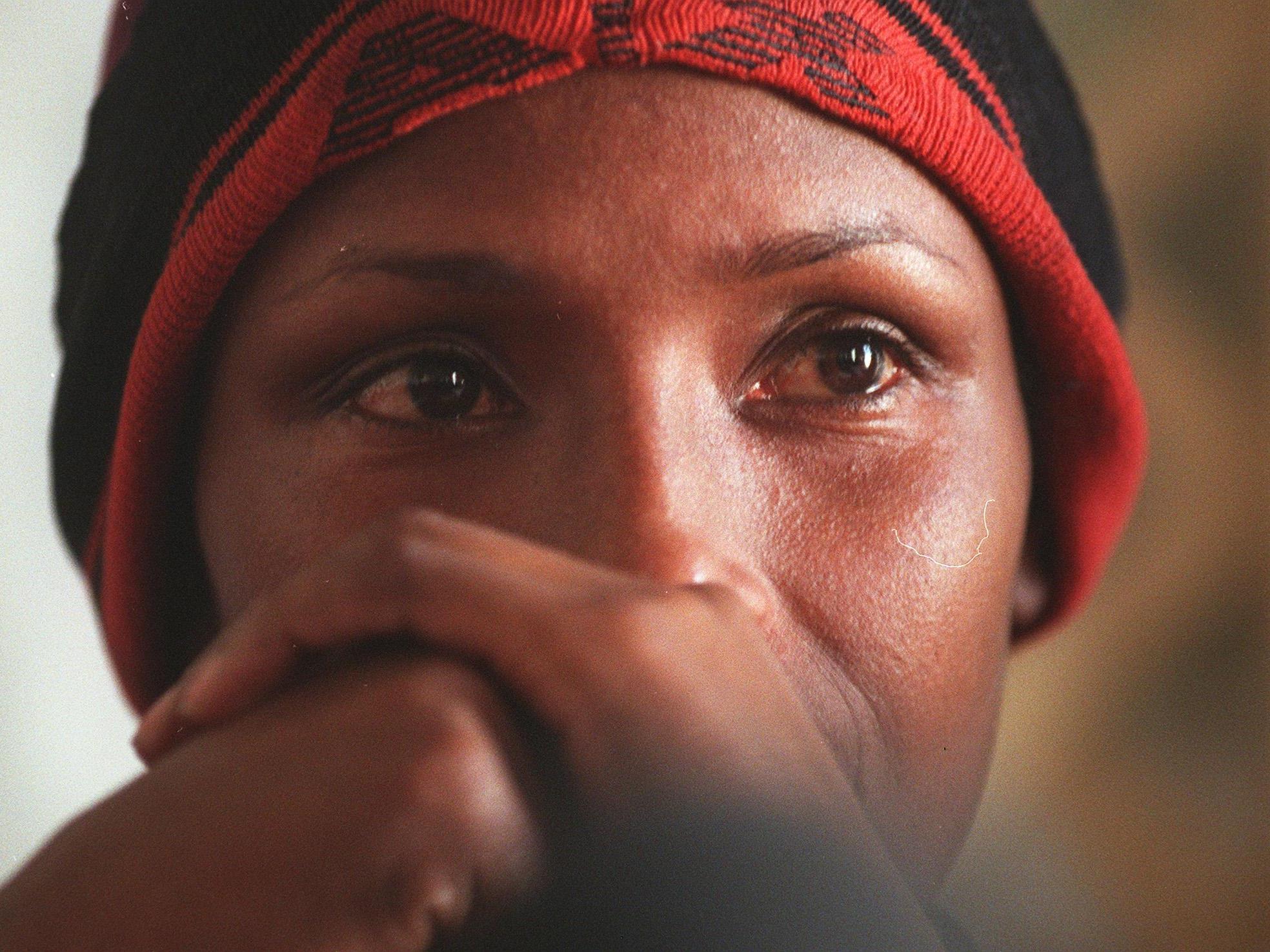 """Eine der berühmtesten Kämpferinnen gegen Genitalverstümmelung: Waris Dirie, österreichisches Model somalischer Herkunft, Autorin von """"Wüstenblume""""."""