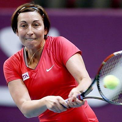 Yvonne Meusburger dominierte ihr Spiel