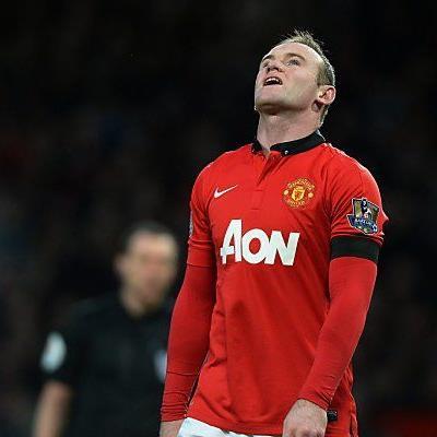 ManUnited-Stürmer Rooney sieht nicht glücklich aus