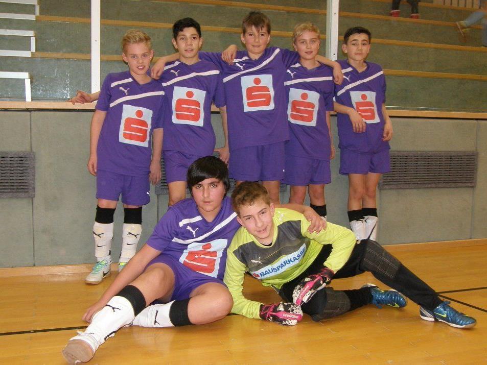 Das siegreiche Schülerliga-Team von der VMS Hörbranz.