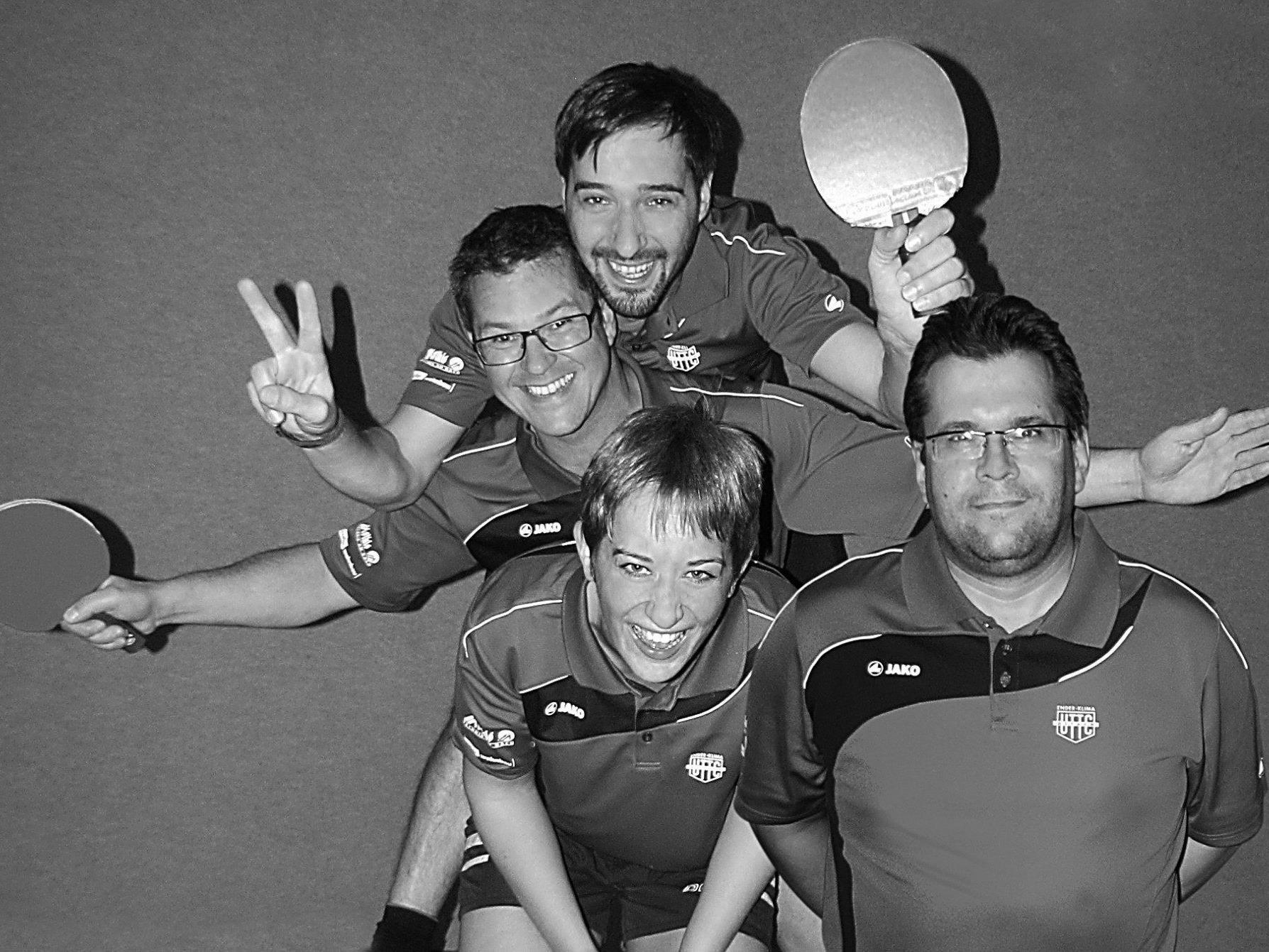 Die Tischtenniselite  - Sarah Kainz, Wolfi Mayer, Freddy Welte und Carlos Da Cunha