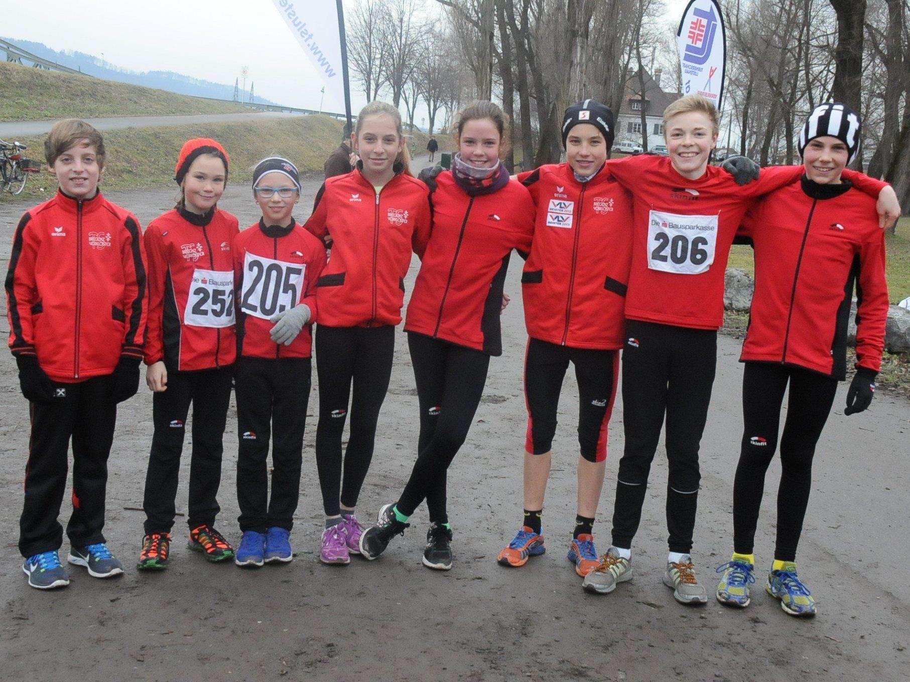 Die Nachwuchs-Athleten der TS Bregenz-Vorkloster nahmen erfolgreich an der Lustenauer Crosslaufserie teil.