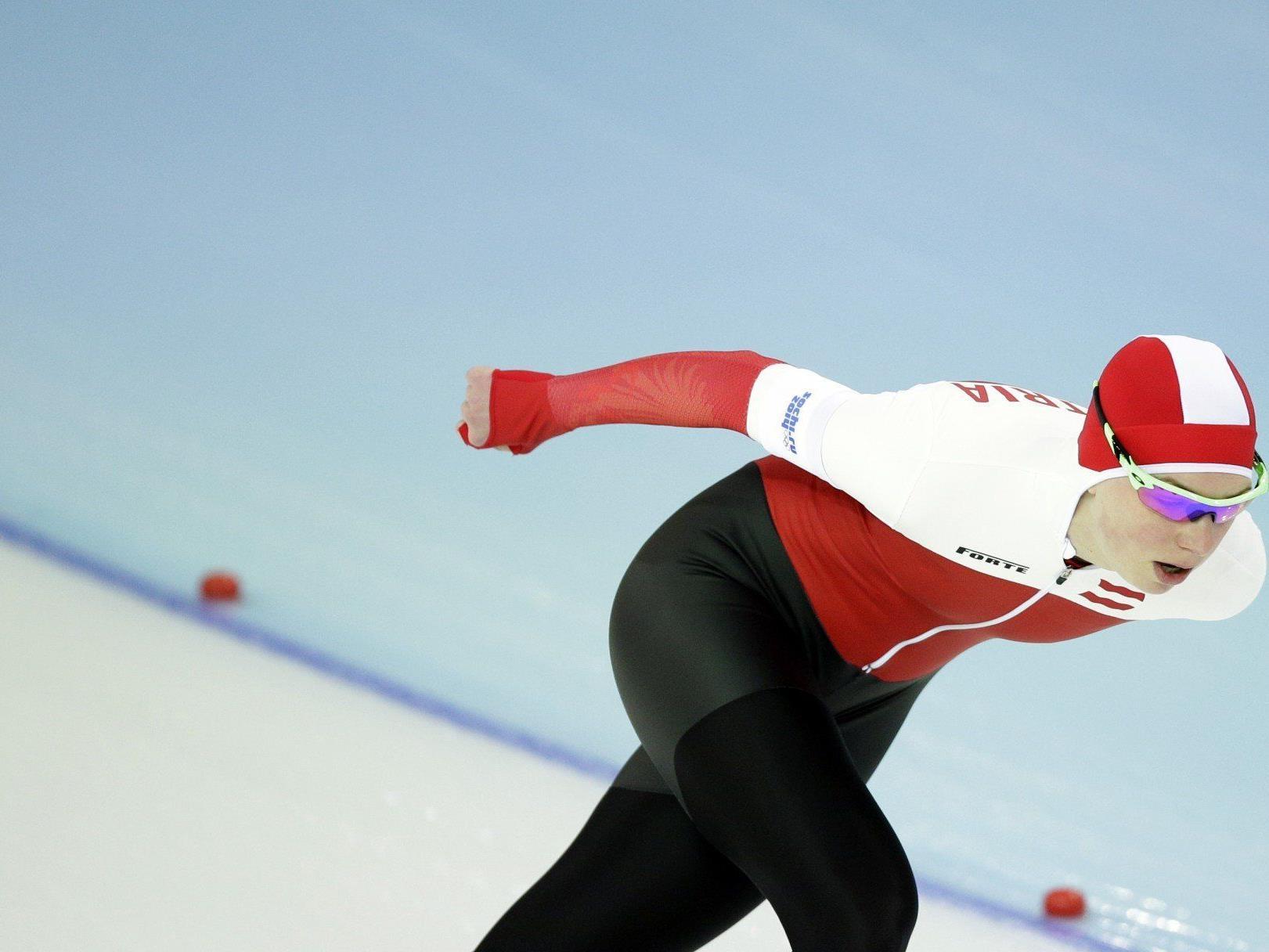 Eisschnellläuferin Anna Rokita stürzte während der Eröffnungsfeier und ging gehandicapt in den Bewerb.
