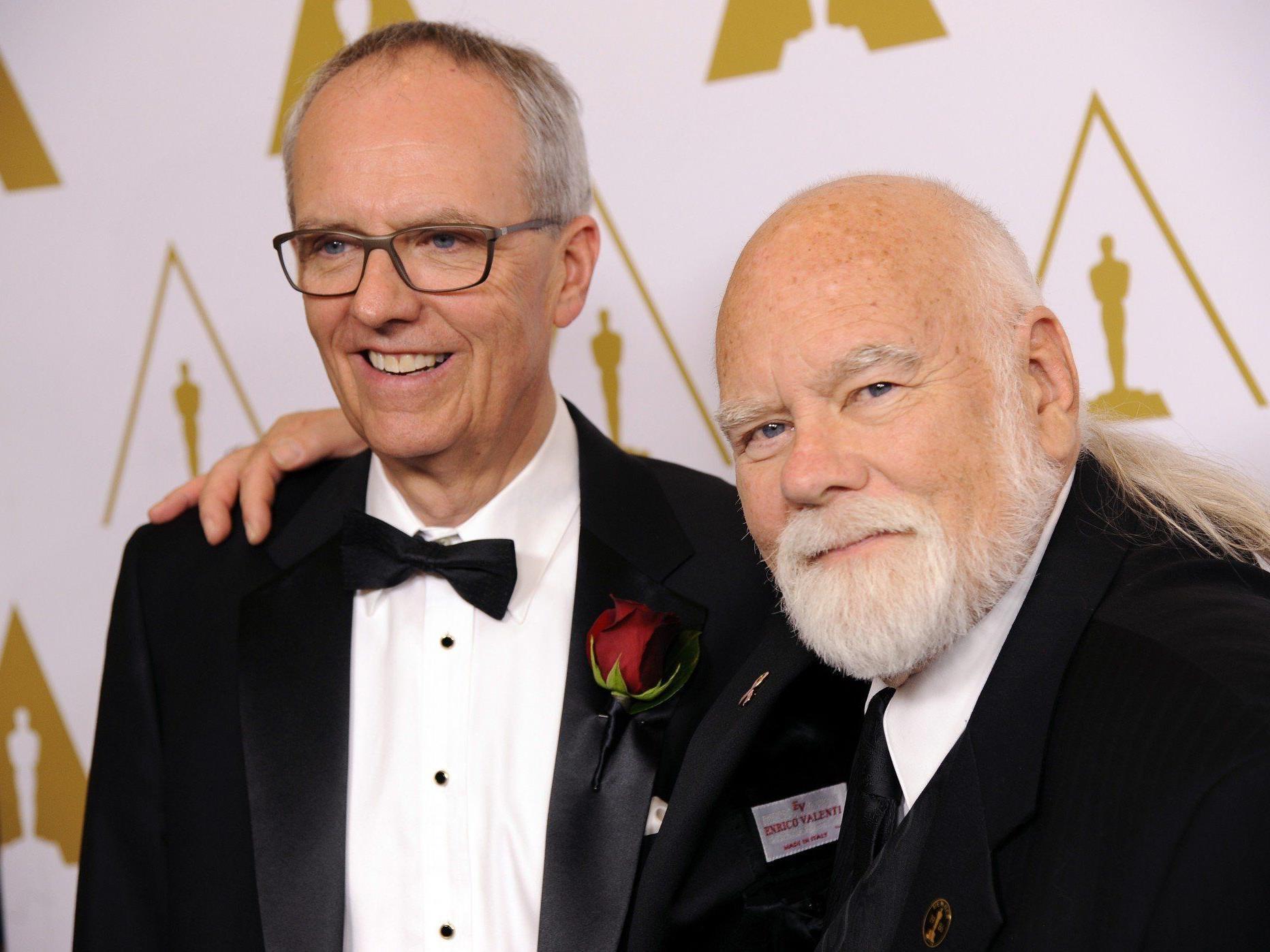 Peter Anderson (rechts) bei der Verleihung der Technik-Oscars.