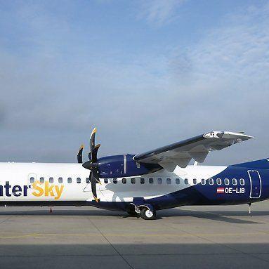 Zum Einsatz kommt auf der Strecke nach Ungarn eine ATR72-600 mit 70 Sitzplätzen.